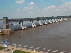 Red River Water Control Project - Monmouth's materials (Bondaflex B33CS & Durafoam C121A) helped guarantee the success of the project.