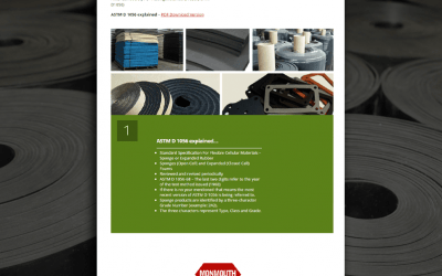 "Monmouth Monmouth Rubber & Plastics releases illustrated guide ""ASTM D 1056 explained…"