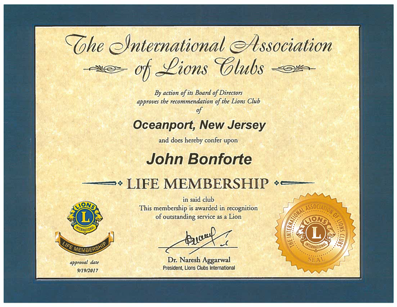Lion Bonforte Welcomed As A Life Member Of The