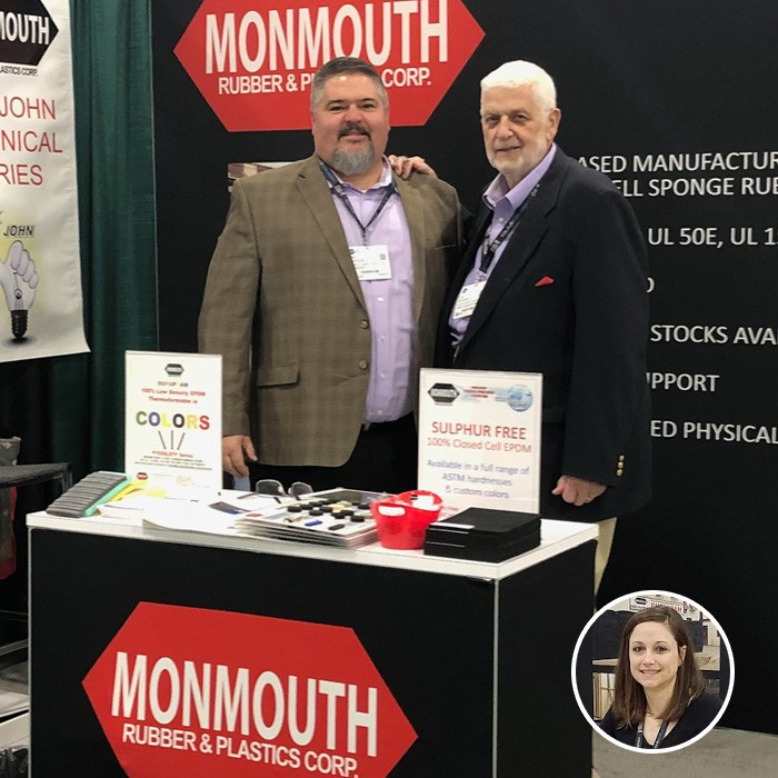 Foam Expo 2018 Trade Show Booth for Monmouth Rubber & Plastics